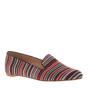 JCrew Collection Darby Bead-Stitch Loafers
